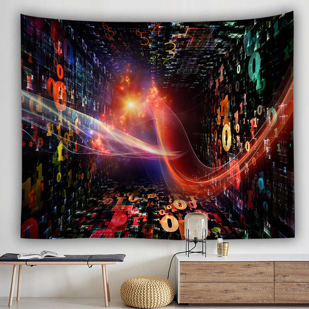 Image 2 - bohemian wall tapestry hanging huge mushroom house fairyland psychedelic tapestriws home decor-in Tapestry from Home & Garden