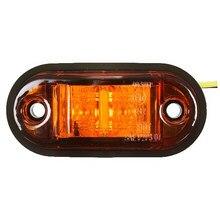 12V / 24V 2 Luzes LED Lado Marcador Lâmpada Para Reboque Do Caminhão E Do Carro-marcado Âmbar