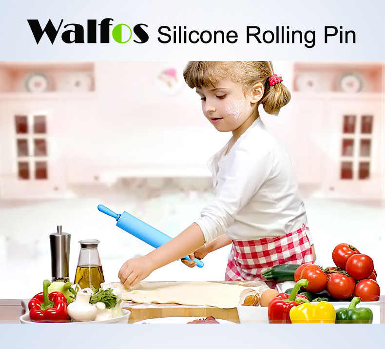 Walfos 30センチ非スティックフォンダンローリングピン用キッズフォンダンケーキ生地ローラー飾るケーキローラー工芸ベーキングクッキングツール