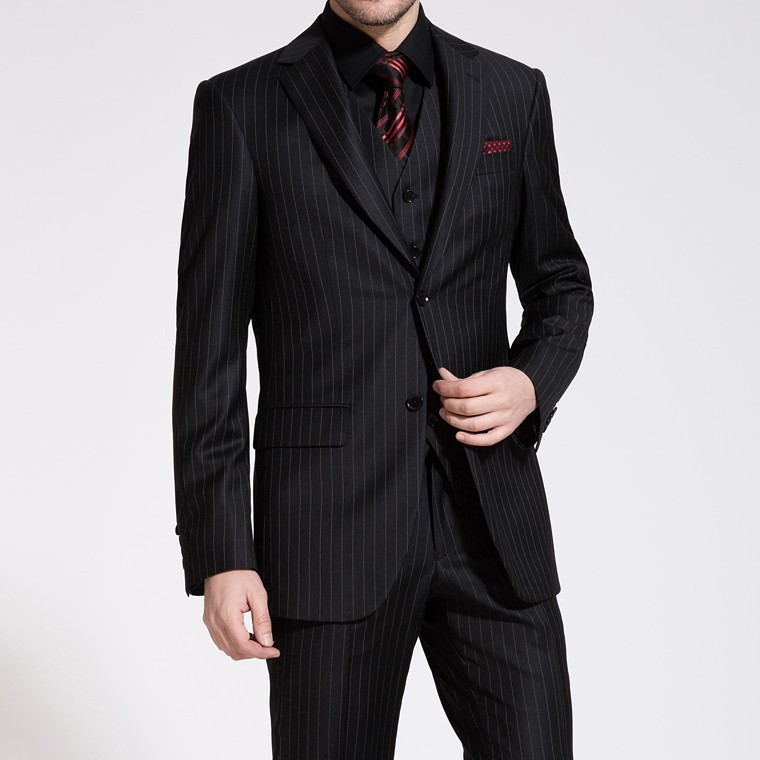 Popular Black Suit with White Stripe-Buy Cheap Black Suit with ...