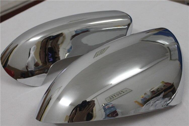 2 pièces ABS Chrome rétroviseur côté rétroviseurs couverture garniture voiture style pour Nissan Qashqai 2007 2008 2009 2010 2011 2012 2013