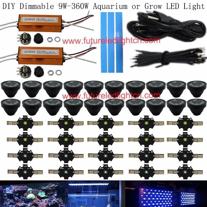 120w Diy Led Aquarium Light Kit For Coral Reef Led