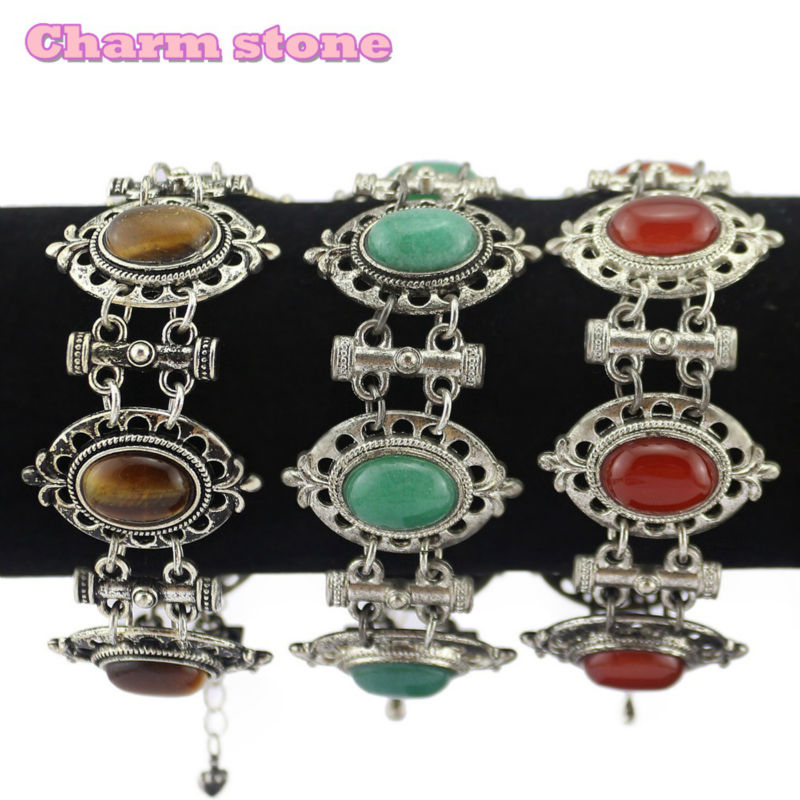 wholesale restoring ancient ways Inlaid natural exquisite stone Beads Bracelets Gothic world jewelry image