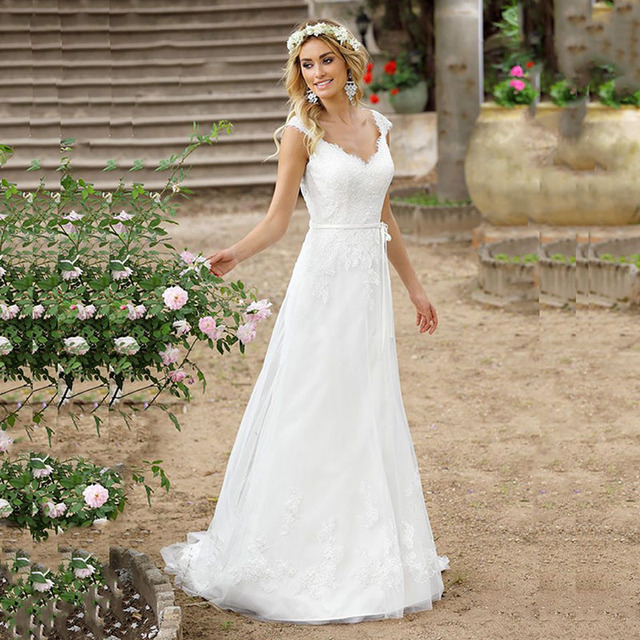 Sweetheart Neckline Lace Mermaid Wedding Dresses New 2019: LORIE Lace Wedding Dresses 2019 Appliqued With Lace A Line