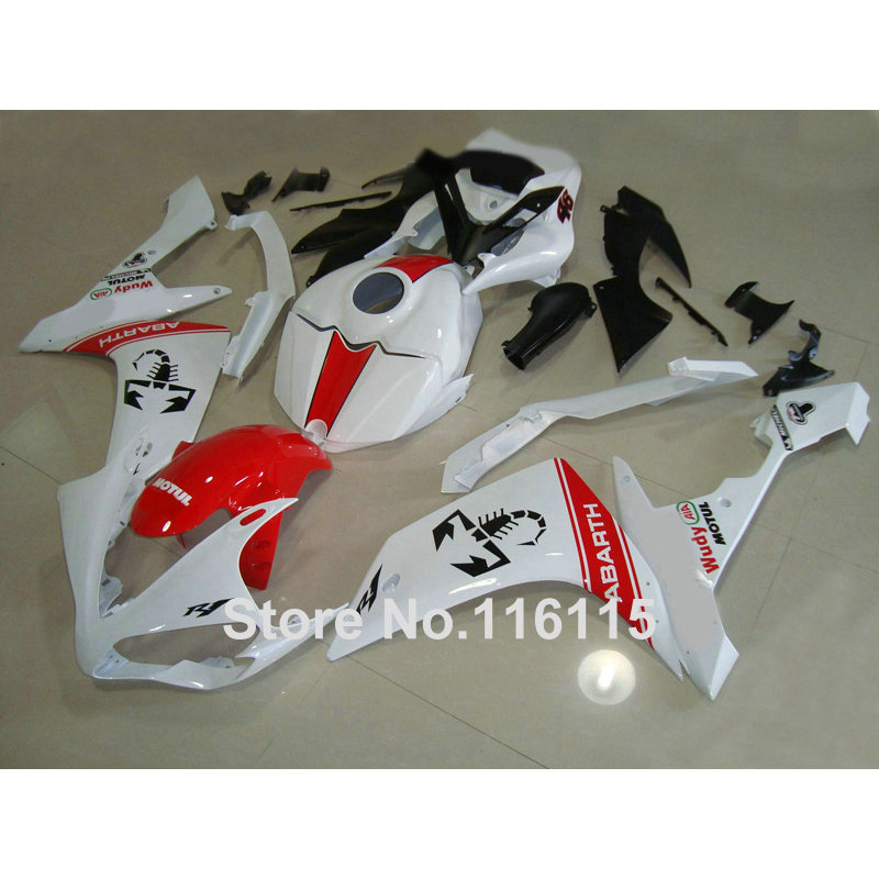hot sales yzf r1 2007 2008 fairing for yamaha yzf r1 07 08 race bike yamalube bodyworks motorcycle fairings injection molding Injection molding motorcycle parts for YAMAHA YZF R1 2007 2008 fairings set YZF-R1 07 08 red white black ABS fairing kit QZ42