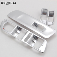 4pcs Set ABS Car Window Mirror Switch Control Button Cover Trim Frame Decoration For Tiguan 2010