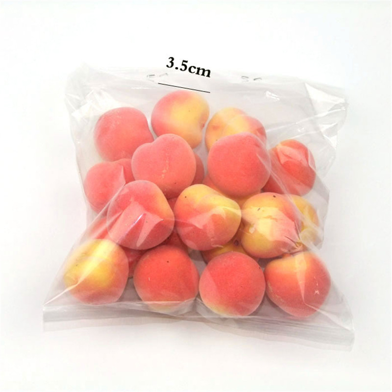 20pcs Mini Artificial Fruit Foam Strawberry Apple Cherry Fake Simulation Fruit Lifelike Home Wedding Party Garden For Decoration