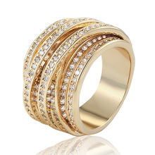 Many Size Gold Ring Women Fine Wedding Accessories Noble Zircon Rings Bridal Anel Gold Anillos Wedding Rings Colares Women Joias