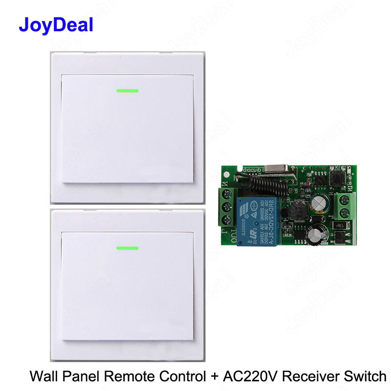 Security & Protection Honest 2pcs Wireless Remote Control Switch Ac 220v Receiver 433mhz Push Button Wall Light Switch Panel Remote Transmitter Lamp Led Bulb