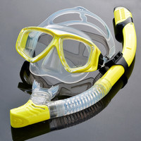 Holiday Fashion Diving Goggles Snorkel Mask And Snorkel Snorkelling Set Full Dry Snorkel Tempered Glass Waterproof Water Glasses