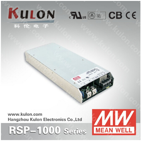 Low profile 1000W 21A 48V Original Meanwell AC/DC Power Supply RSP-1000-48 with PFC function 5 years warranty