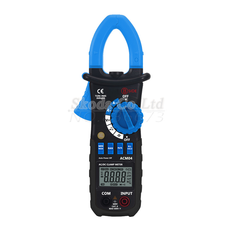 New ACM04 Auto Range TURE RMS Digital Clamp Meter Multimeter AC DC Current Voltage Frequency Capacitance Tester VS MS2108A