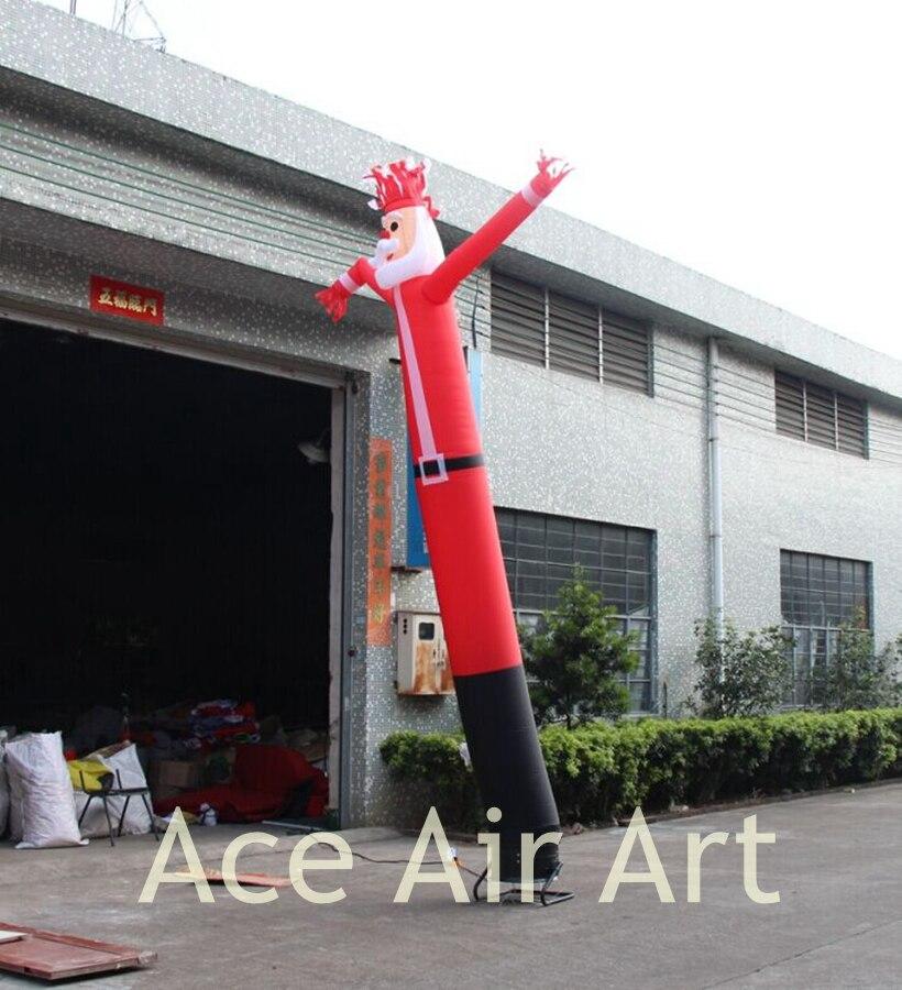 Пользовательские 12ft H рекламы надувной Санта Клаус небо танцор для продажи