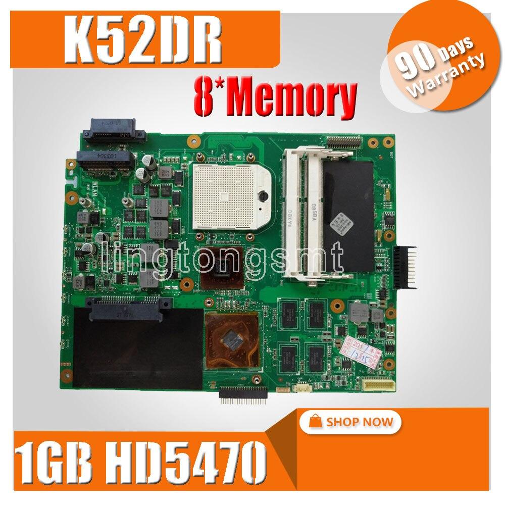 K52DR материнская плата для ноутбука ASUS K52DY A52D K52DE K52D X52D K52DR материнская плата 1 ГБ HD5470 8 * Память