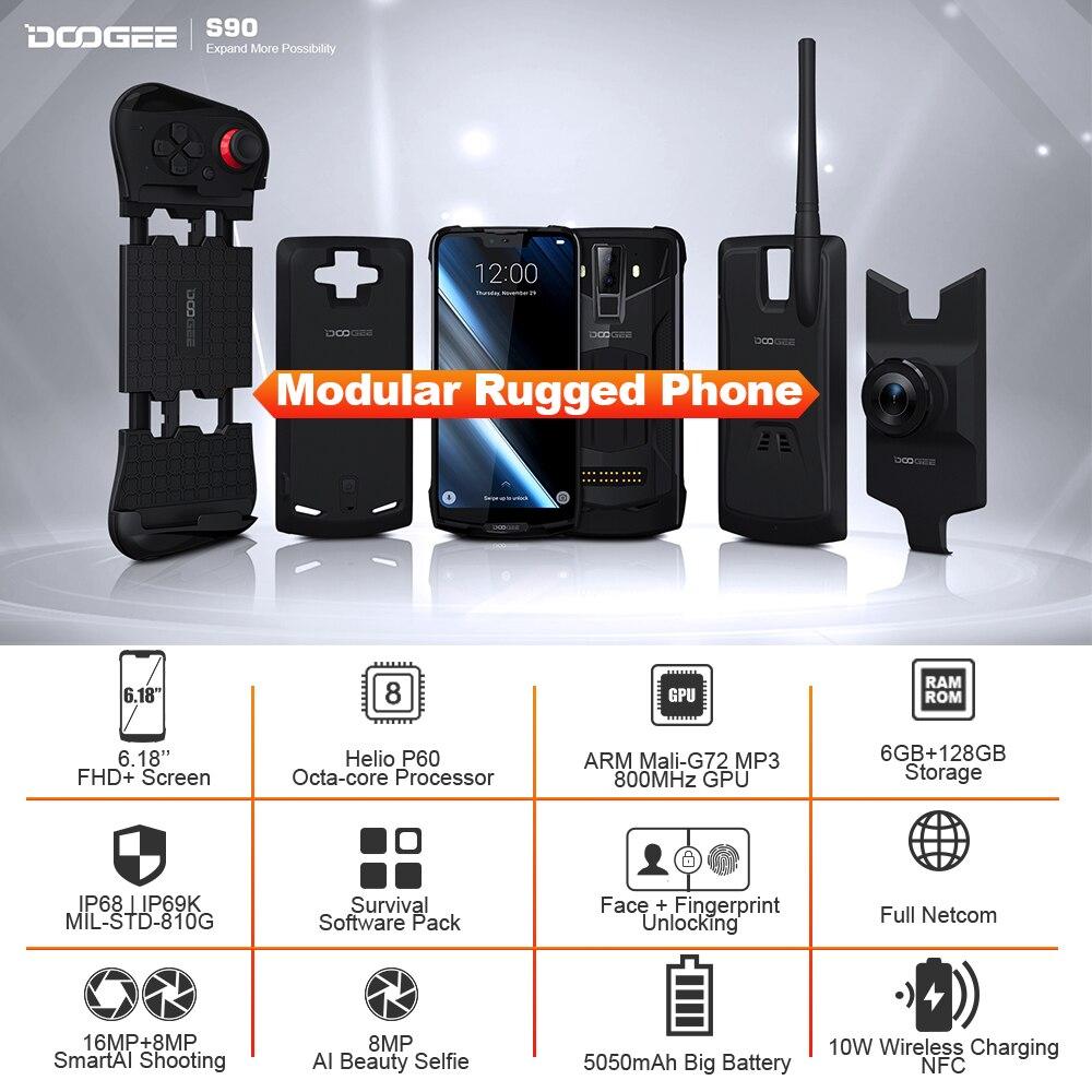 IP68/IP69K DOOGEE S90 téléphone Mobile robuste modulaire 6.18 pouces affichage 5050mAh Helio P60 Octa Core 6GB 128GB Android 8.1 16.0M Cam - 2
