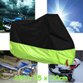 220 x 95 x 110cm 190T Waterproof Outdoor UV Protector Rain Dust Bike Anti-theft Motorcycle Cover with Lock Hole L Size