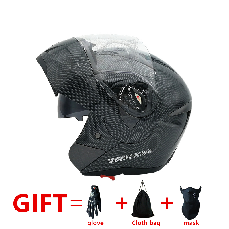 New Arrivals Best Sales  Flip Up motorcycle helmet  with Inner Sun Visor Double Lens Dual Visor Racing Motocross Quad Dirt Bike for top gear the stig helmet with silver visor tg collectable like simpson pig yellow motorcycle helmet you re the stig
