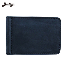 New Solid Classic Genuine leather Men Dollar Clip Multi-color 2 Folds Style Money Clip Money Clips With Coin Pocket