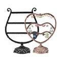 Heart Shape Earrings Display Shelf Bronzed Metal Earrings Organizer Jewelry Display Rack Earring Stand Holder For Shop Store