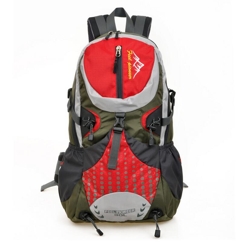 ФОТО Multifunctional travel professional outdoor mountaineering backpack bag camping waterproof riding rucksack pack bag 30L 7 color