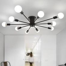 天井ライトリビングルームレストランランプの寝室のモダンシンプル鉄天井照明鉄工芸品天井ランプ