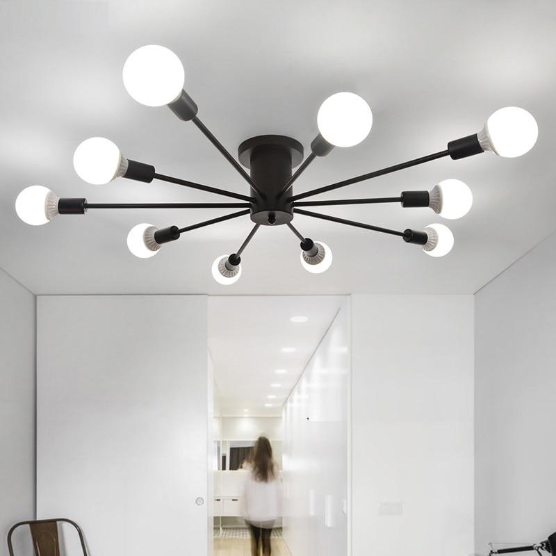 US $48.16 31% OFF|Ceiling Lights Living Room bedroom Light Restaurant lamps  Bedroom Modern Simple Iron Ceiling lighting Iron Crafts Ceiling Lamp-in ...