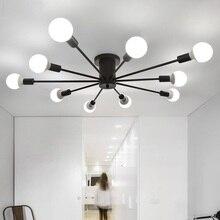 Luzes de teto sala estar quarto restaurante luz lâmpadas quarto moderno simples ferro ferro iluminação teto artesanato lâmpada do teto