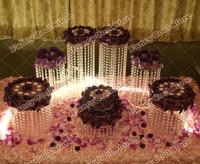 7pcs/set Chrismas Wedding table Dessert Plate Top rated crystal cake stand/wedding decoration party prop wedding centerpiece