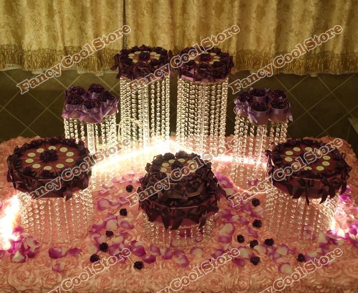 7pcs/set Chrismas Wedding table Dessert Plate Top-rated crystal cake stand/wedding decoration party prop wedding centerpiece