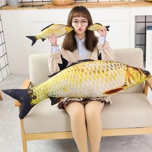 Image 4 - 1pc ファッションシミュレーション鯉ぬいぐるみ魚ぬいぐるみ枕子供クリエイティブソファベッド枕なだめるおもちゃクリスマスギフト