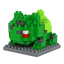 Pokemon Comics Pet Bulbasaur LOZ Diamond Blocks Building Blocks Miniature Minifigure Toy Baby Toys for Girls Toys for Children