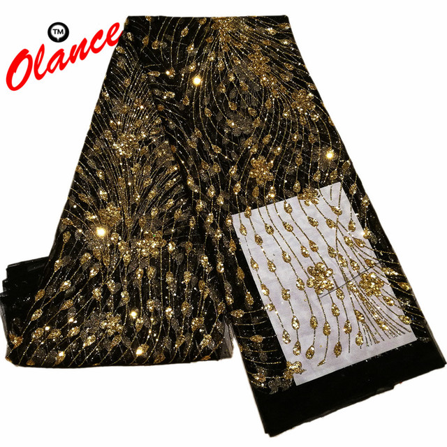 Hot sale newest peacock tails pattern with Full Glued Glitter Sequins  Nigerian Lace ZP4 196249850833