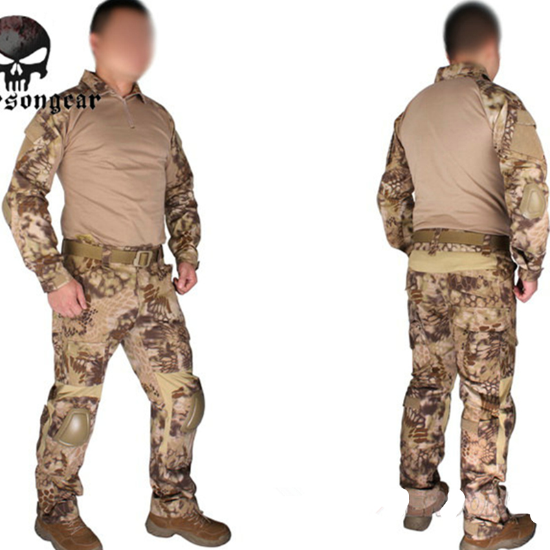 Emerson Gen2 Combat uniform Emerson Tactical shirt and pants Military US Army BDU Suits Highlander EM6980 combat army uniform emerson tactical frog suit shirt