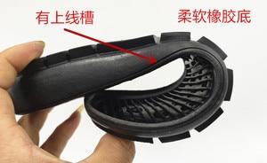 Image 3 - שינוי סוליות נשי חצי מדרון עם יד החלקה גומי נעליים יומיומיות עם החריץ העליון שטוח תיקון חומר אבזרים
