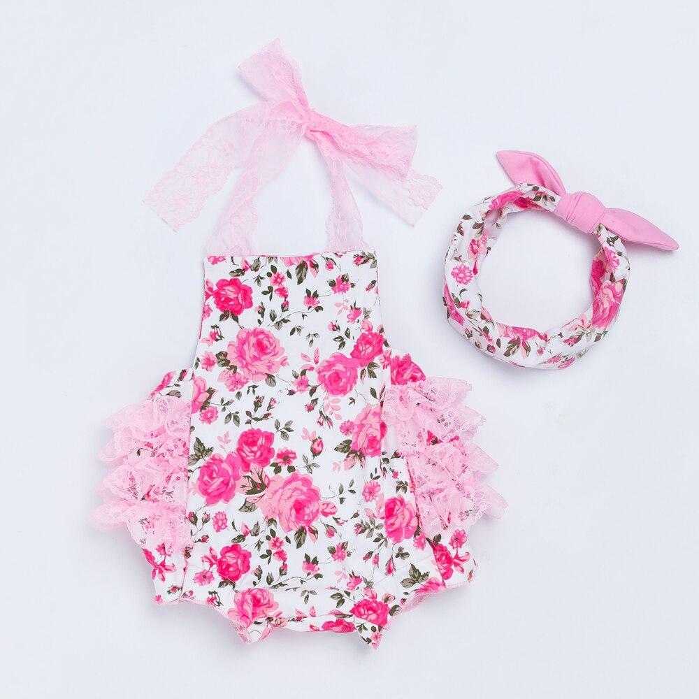 YK & Loving Pink Baby Top Meisjes Jumpsuit voor Verjaardagscadeau - Babykleding