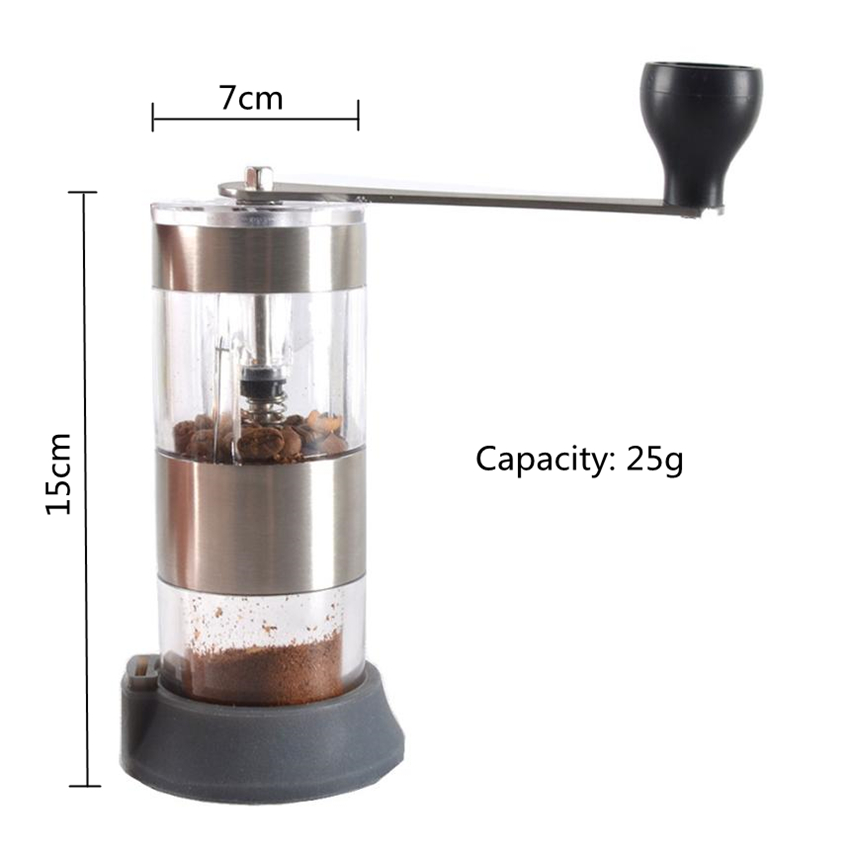 Manual Coffee Grinder Washable Ceramic Core Kitchen Hand Coffee Mill Household Coffee Grinding Machine with a coffee spoon