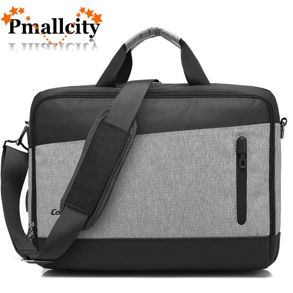 Usb Ladung Laptop schulter tasche messenger tasche für Macbook Touchbar pro 15 15,6 zoll Laptop Fall Aktentasche handtasche männer Business