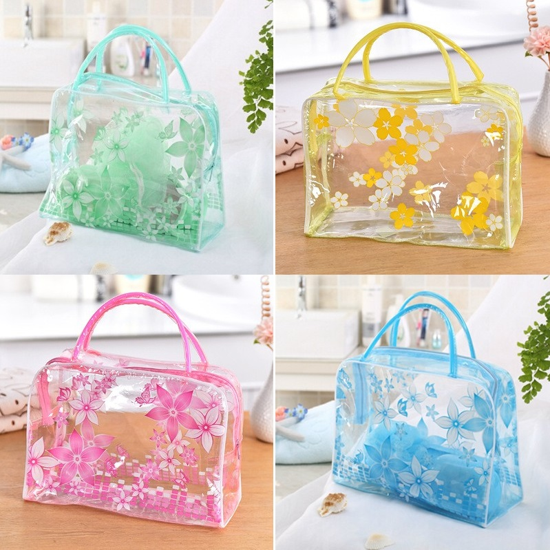 HMUNII Brand Transparent Portable Women Cosmetic Bag Waterproof Women Makeup Bag Underwear Make Up Drug Storage Organizer Bag 11