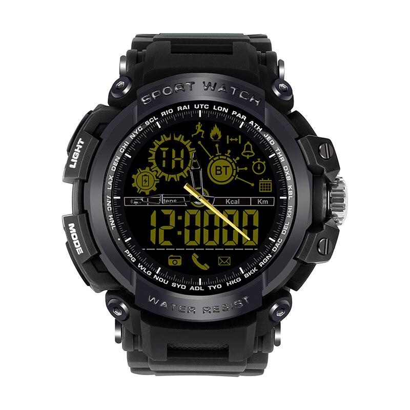 DOITOP DX16 Bluetooth 4.0 Smartwatch 50m étanche natation Sport passomètre activités Tracker montre intelligente pour iPhone Samsung