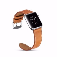 Genuine Leather Loop Band For Apple Watch 38 42mm Series 1 2 3 Watchband Strap Belt