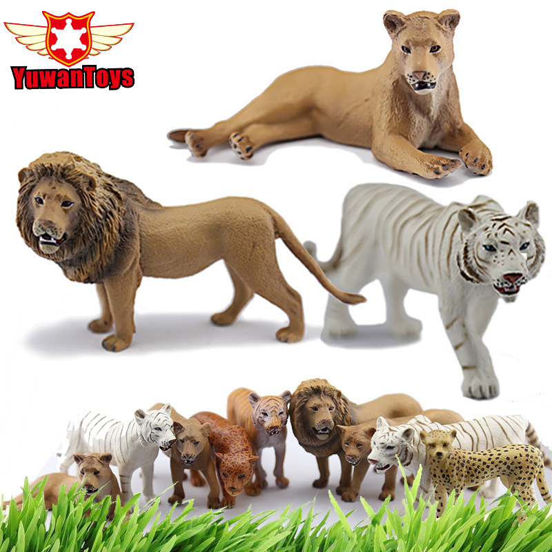 Collectible Toys Very Realistic Wild Animal Model Series Lion Tiger Cheetah Delicate Hand Paind PVC Toys Christma Gift For Kids image