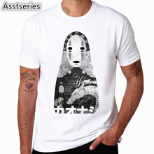 2017 S XXXL Print Spirited away Japanese Anime T shirt Unisex Short sleeve O Neck Tops