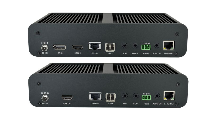 IP Streaming Networked AV encoder/decoder with HDMI and DP inputs up to 4K/60Hz/4:4:4, Dolby Vision for for HDMI/DP transmission