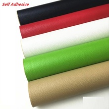 PS003 50x137cm Self Adhesive Stick on No Ironing Sofa Repairing Leather PU Fabric Stickers Patches For Clothing, Bags, Cars