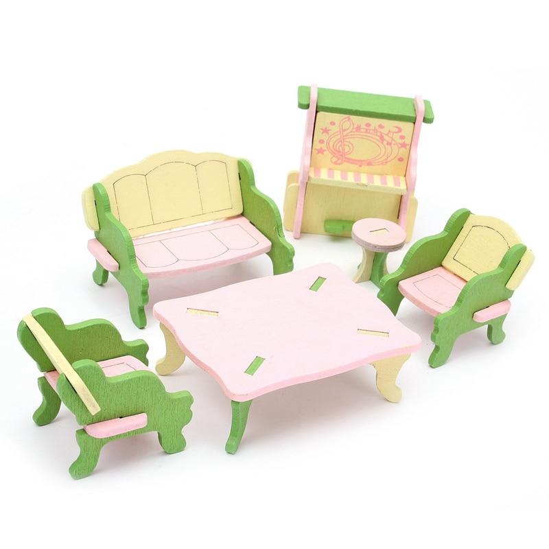 Diy de madera delicado toys dollhouse muebles en miniatura para ...