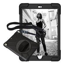 Для iPad Air 1 пиратский чехол для планшета детский безопасный противоударный сверхпрочный Силикон + PC Kickstand чехол с запястьем + плечевой ремень