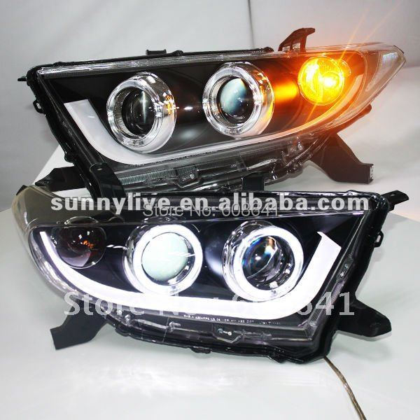 Highlander Kluger LED Strip Faros Angel Eyes para TOYOTA 2012-2013 - Luces del coche