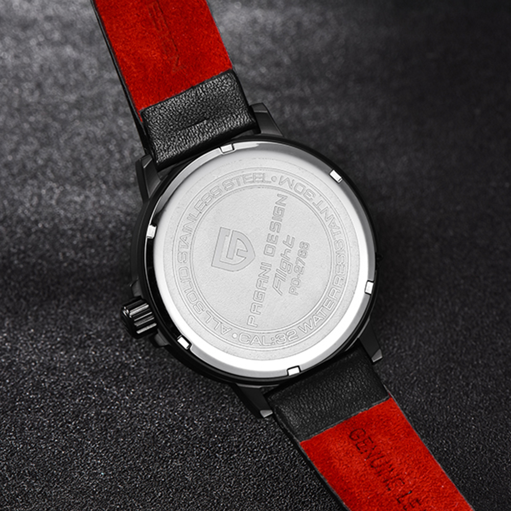 Image 5 - PAGANI Mens Watches Brand Luxury Stylish Watch Leather Strap New Dials Design Rotate Calendar Military Quartz Watch for Men-in Quartz Watches from Watches