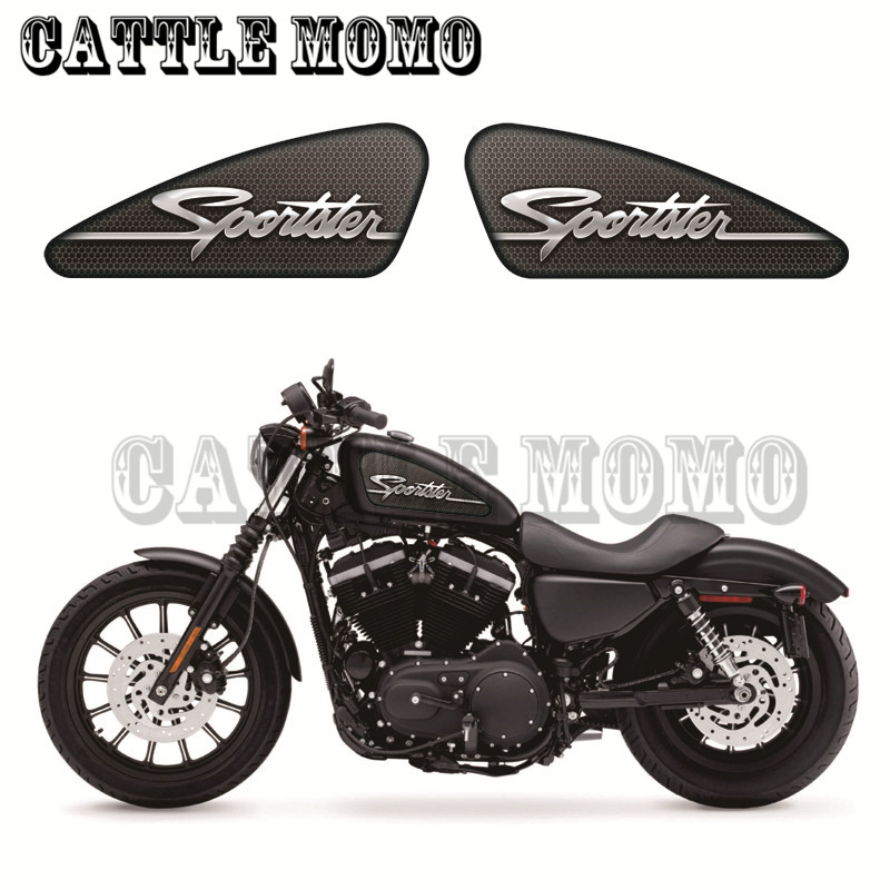 Sportster Logo Custom Graphics Motor Fuel Tank Decals Stickers For Sportster XL 883 1200 XR1200 IRON Fuel Tank Decals Motorbike mtsooning timing cover and 1 derby cover for harley davidson xlh 883 sportster 1986 2004 xl 883 sportster custom 1998 2008 883l