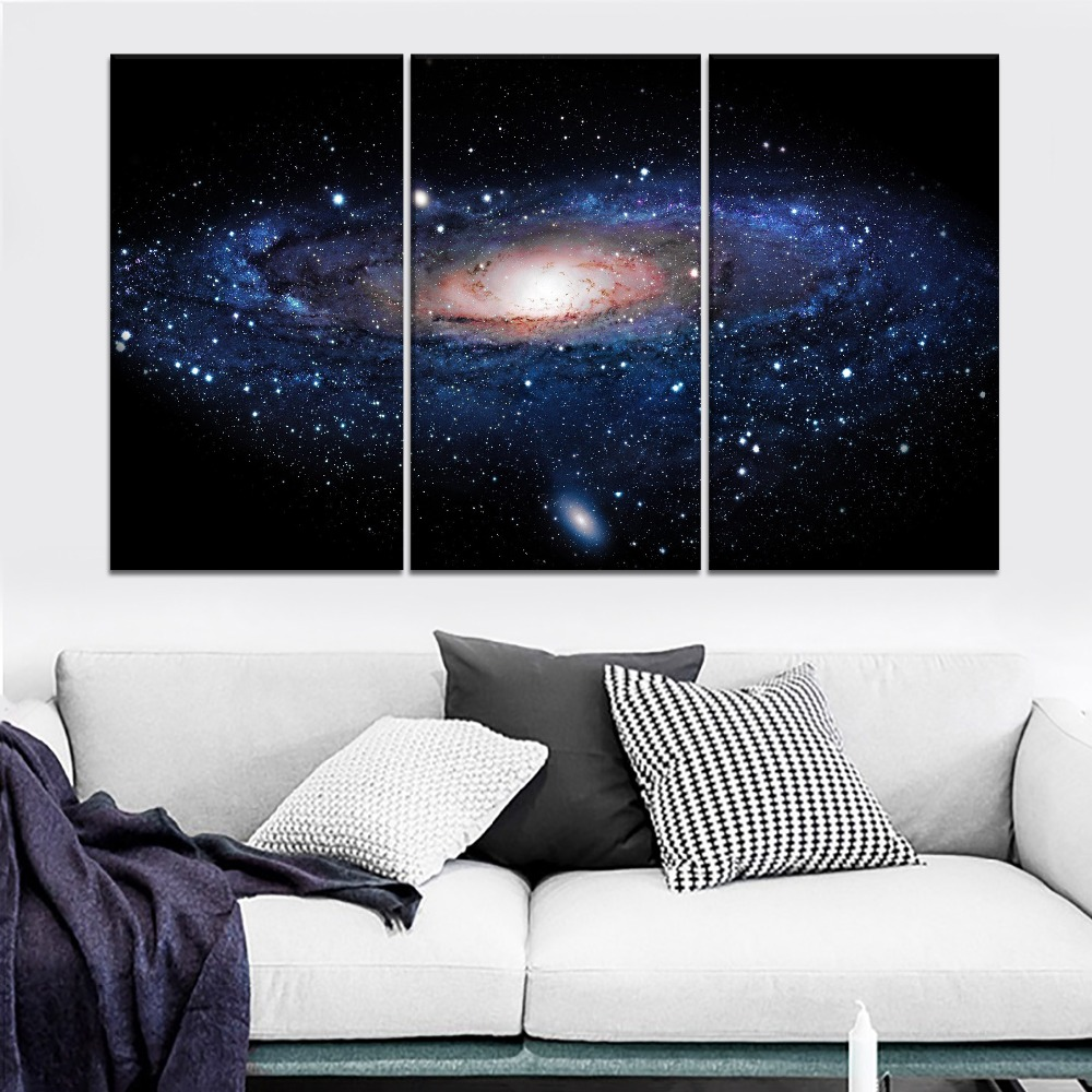 Universe Galaxy Astronomy Painting 5 Piece Modular Style Picture Canvas Print Type Modern Home Decor Wall Artwork Poster in Painting Calligraphy from Home Garden
